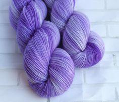 People Eater - MCN Sock Yarn - Hand Dyed Purple Yarn - Merino Cashmere Yarn -Fingering Hand Dyed Yarn -MCN Sock Yarn - Hand Dyed 4ply Yarn by ClementineAndThread on Etsy