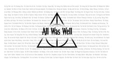 All the chapter of Harry Potter. I love this pic!!