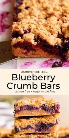Gluten Free Bars, Easy Gluten Free Desserts, Dairy Free Recipes, Vegan Gluten Free Cookies, Gluten Free Scones, Vegan Baking Recipes, Fodmap Recipes, Muffin Recipes, Gluten Free Blueberry