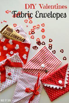 Valentine Fabric Envelopes - a tutorial - Peek-a-Boo Pattern Shop