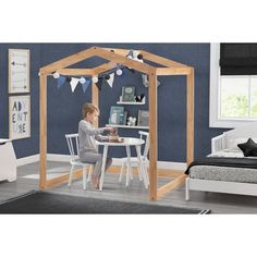 Delta Children Homestead Table And Chairs - : Target Wood Playhouse, Indoor Playhouse, Table And Chairs, A Table, Delta Children, Multiplication For Kids, Kids Sleep, Kid Spaces, Play Houses