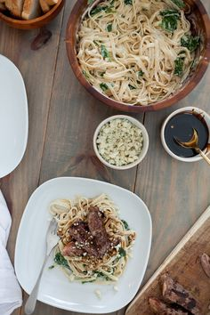 Steak Gorgonzola Alfredo with Balsamic Glaze recipe. Deliciously sweet and savory, perfect for dinner, parties and especially for the men in your life... think Fathers Day dinner!