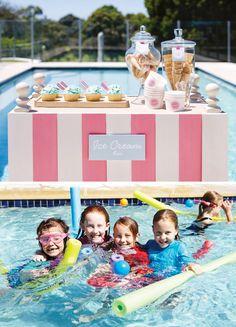 Retro Pink Flamingo Pool Party Ideas