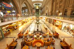 Shopping mall at Leipzig train station, Germany (photo by @Holger Mette)