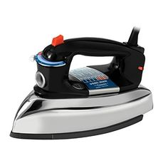 Get the tried and true results you expect from the traditional design of the Black & Decker Classic Steam Iron . This classic steam iron sets. Steam Iron Reviews, Best Steam Iron, Best Iron, Iron Steamer, How To Iron Clothes, Household Cleaning Supplies, Laundry Supplies, Black Stainless Steel, Traditional Design