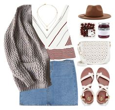 """Molly's Chambers, Kings of Leon"" by blendasantos ❤ liked on Polyvore featuring Elizabeth and James, Tory Burch, Under One Sky, Forever 21, Topshop, Michael Kors and summerhat"