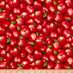 Apple Fabric / Food Fabric / Farmer John Garden Party Apples Fabric/ Fabri-Quilt Paintbrush Studio 120-13351  / by the yard and Fat Quarters by SewWhatQuiltShop on Etsy