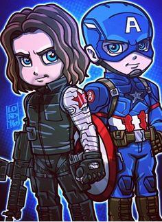 Bucky & Captain America
