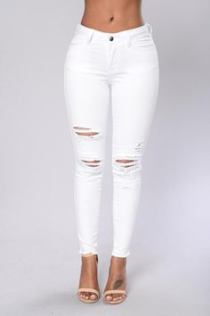 e3d84d18188 Bad Gal Jeans - White. Slim JeansHigh JeansRipped JeansDelgadoPants For WomenWomen  TrousersClothes ...