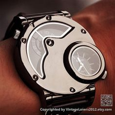 Mens Watch Steampunk Wrist Mechanical Watch - Anniversary Gifts for Men (WAT0099-Black)