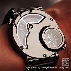 Mens Watch Steampunk Wrist Mechanical Watch  by VintageLovers2012, $23.99