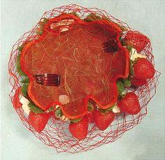 Ca. 1940's Bes-Ben 'Strawberry' hat