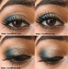 Festive Turquoise and Bronze eye makeup Tutorial