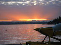 Lake Washington from Bellevue sunset
