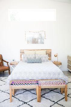 Bohemian master bedroom with Rugs USA's Marrakesh Shag!
