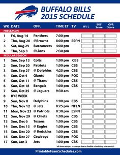 image relating to Buffalo Bills Schedule Printable known as 9 Easiest NFL Buffalo Expenditures visuals inside 2015 Nfl buffalo costs