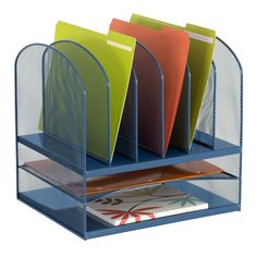 Horizontal Mesh Desktop Organizer Desktop Organization Safco Folder Organization
