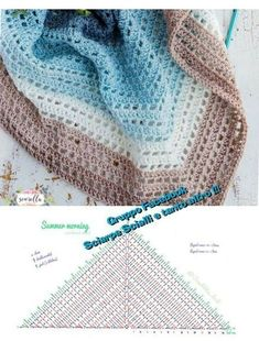 Crochet for Arke triangular scarf - Part 1 of Mystery CAL - ch . Crochet for Arke triangular scarf - Part 1 of the Mystery CAL - children products Knitting , lace processi. Poncho Crochet, Poncho Knitting Patterns, Crochet Shawls And Wraps, Shawl Patterns, Knitted Shawls, Crochet Scarves, Crochet Clothes, Crochet Patterns, Free Knitting
