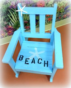 A Shabby To Beachy Chic Child's Rocking Chair Makeover