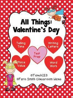Valentine's Day - Math and Literacy Lessons MD - test prep activities, math & literacy plus centers $