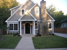 Benjamin Moore – Briarwood, this is a classic exterior color, but can be made in interior too.  Looks great w/Black Door/Shutters                                                                                                                                                     More
