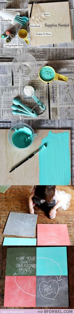 Colored Chalkboard Paint!