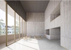 Theatre Architecture, School Architecture, Zurich, Black Box, Sliding Glass Door, Sliding Doors, School Reception, Reception Design, Entry Doors