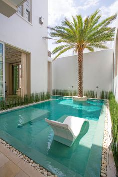 33 Charming Backyard Pool Landscaping Ideas You Will Love - You can give your swimming pool a new and different look simply by adding pool lights. A backyard pool is a lucky thing to have and if you have one, t. Swimming Pool Landscaping, Small Swimming Pools, Small Backyard Pools, Small Pools, Swimming Pool Designs, Landscaping Ideas, Backyard Landscaping, Backyard Ideas, Lap Pools