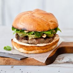 These Thai turkey burgers are spiced with jalapenos and Sriracha. Beer is an obvious pairing but experimenting with different wines could prove fun.