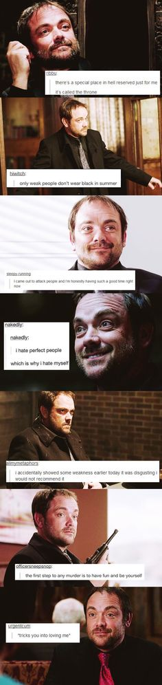 Today I learned Tumblr speaks with Crowley in mind