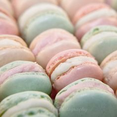 This is the photograph I'm using for my Pastels room inspiration board (pink and mint french macarons)