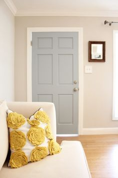 Revere Pewter, 50% Formula.  Door color- Wedgewood Gray 150% formula- love this color combo