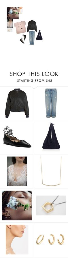 """""""do it yrself"""" by lavenderblush ❤ liked on Polyvore featuring O-Mighty, Ganni, J Brand, Michael Kors, The Row, Pamela Love, Tate, Maria Black, Bjørg and Jennifer Fisher"""