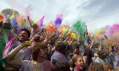 Holi, the Festival of Colors at Sri Radha Krishna Temple in Spanish Fork