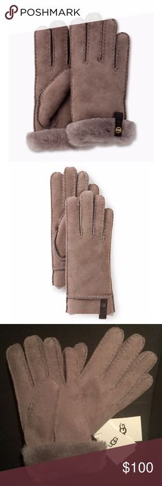 🆕 UGG Tenney Gloves New with tags storm gray convertible cuff gloves. Authentic UGG product. UGG Accessories Gloves & Mittens