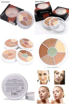 [Visit to Buy] 5 Color Concealer Face Makeup Brightener Primer Foundation Make up Contour Palette Makeup Base #Advertisement