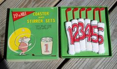 Vintage Golf 19th Hole Coaster and Stirrer by Raidersoflostloot