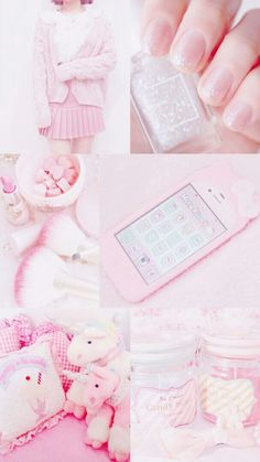 aesthetic pastel yellow pink wallpapers backgrounds anime collage iphone pretty uploaded cd