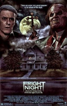 Tom Holland shared this awesome Fright Night poster Sci Fi Horror Movies, Zombie Movies, Classic Horror Movies, Scary Movies, Action Movies, Good Movies, Fan Poster, Movie Poster Art, Arte Horror