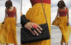 Maxi Skirt, like that color!