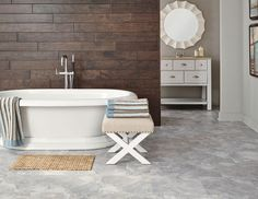 Achieve a subtle sand worn travertine look with ease of Corinthia Adura Flex Tile