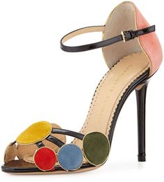 Charlotte Olympia Contemporary Suede Circle Sandal