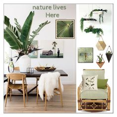 """""""Nature Lives Here"""" by pat912 ❤ liked on Polyvore featuring interior, interiors, interior design, home, home decor, interior decorating, Lane Venture, Soicher Marin, Menu and Home"""