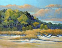 "Dunes by Anne Labaire Acrylic ~ 11"" x 14"