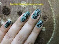 design Nail Patterns, Pattern Nails, Nail Tips, Make Up, Nail Art, Turquoise, Diy, Painting, Free