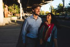 An engagement session in Georgetown. Photography Mantas Kubilinskas
