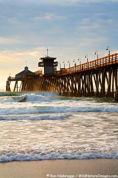 Yep...we've caught waves on the south side of the pier...like this exact spot!! :)) Imperial Beach Pier, San Diego, California