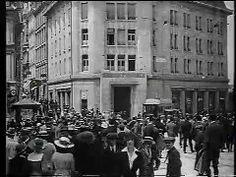 Vues de Lausanne. Le film a été tourné entre 1916, date de la finition du nouveau bâtiment de la gare de Lausanne, et 1923, date de l'inauguration du nouveau Tribunal fédéral à Mon-Repos. Copie vidéo d'un film argentique, certainement conservé à la Cinémathèque de Lausanne et restauré en 1977 Lausanne, Films, Street View, Rest, Train Station, Movies, Cinema, Movie, Film