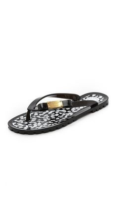 Marc by Marc Jacobs Logo Jelly Flip Flops