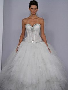 Pnina Tornai Sweetheart Princess/Ball Gown Wedding Dress with Dropped Waist in . Bridal Gown Style Number:32022980